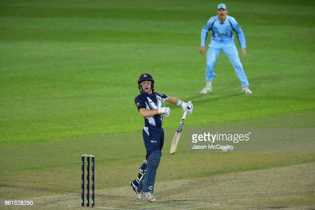 Seb Gotch of Victoria bats during the JLT One Day Cup match between New South Wales and Victoria at North Sydney Oval on October 15 2017 in Sydney...