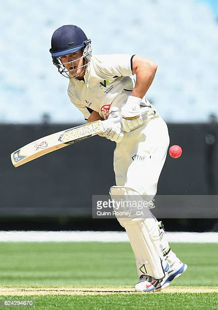Seb Gotch of Victoria bats during the One Day International tour match between Victoria and South Africa at Melbourne Cricket Ground on November 19...