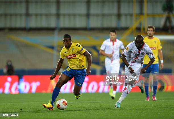 Seba of Estoril Praia in action during the UEFA Europa League group stage match between Estoril Praia and Sevilla FC held on September 19 2013 at the...