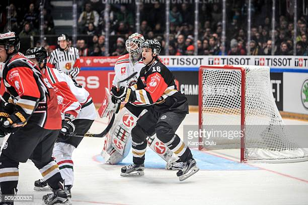 Sebastian Aho of Karpat Oulu during the Champions Hockey League final between Karpat Oulu and Frolunda Gothenburg at Oulun EnergiaAreena on February...