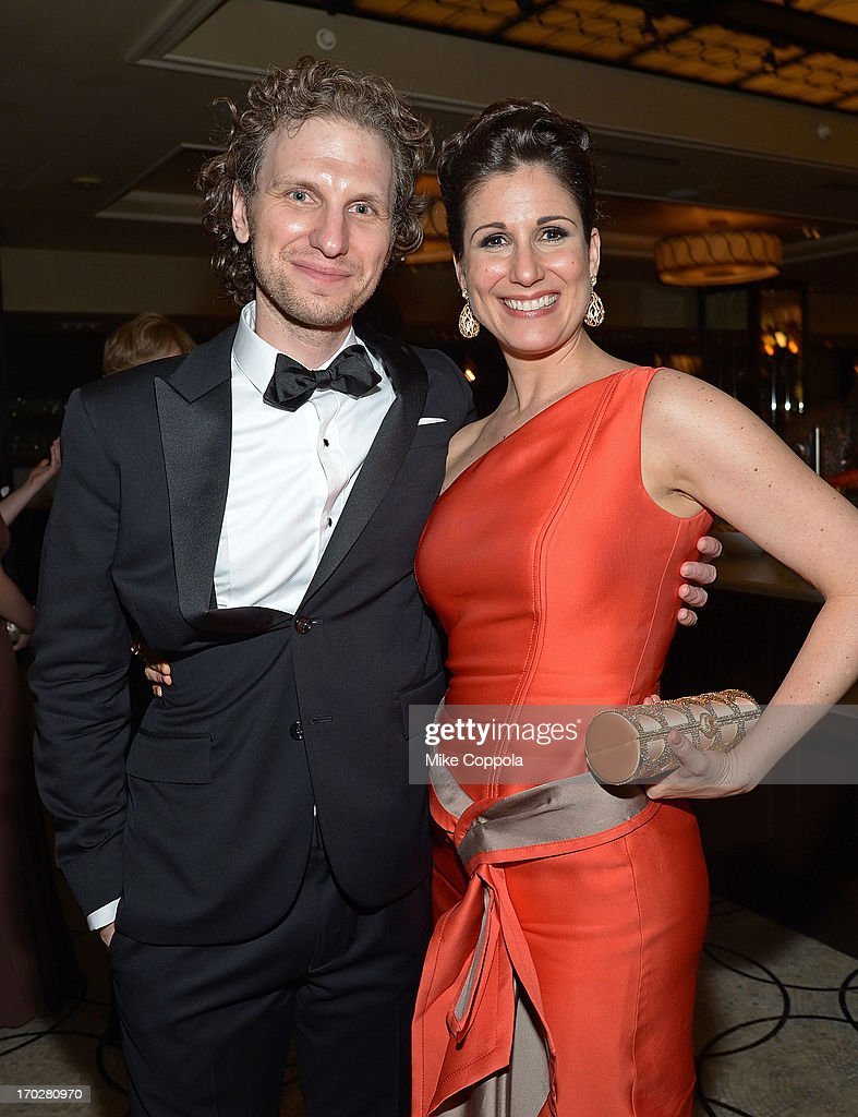 Sebastian Arcelus (L) and <a gi-track='captionPersonalityLinkClicked' href=/galleries/search?phrase=Stephanie+J.+Block&family=editorial&specificpeople=2337750 ng-click='$event.stopPropagation()'>Stephanie J. Block</a> pose for a picture on June 9, 2013 in New York City.