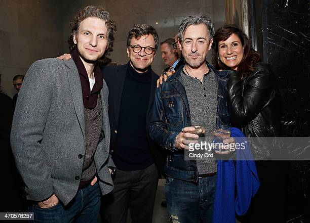 Sebastian Arcelus guest Alan Cumming and Stephanie J Block attend the 'Elaine Stritch Shoot Me' screening reception at Paley Center For Media on...