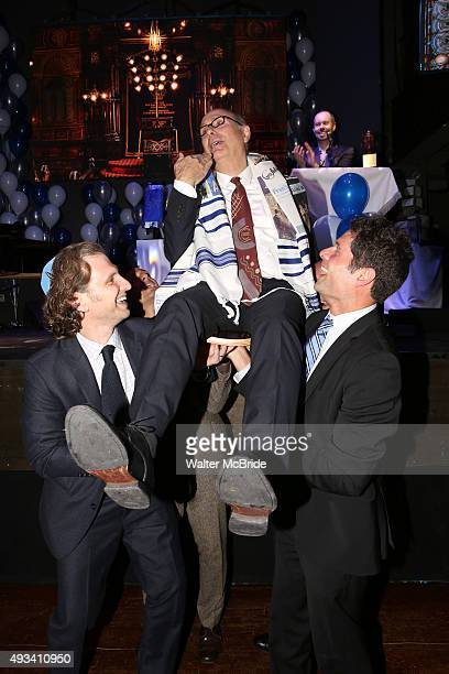 Sebastian Arcelus James Lapine and Tom Kitt attend the Bar Mitzvah style ceremony for the Stage Directors Choreographers Foundation presention of The...