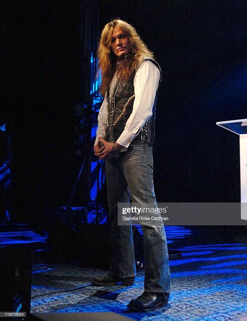 Sebastian Bach during TJ Martell Foundation - October 6, 2005 at Marriott Marquis in New York City, New York, United States.
