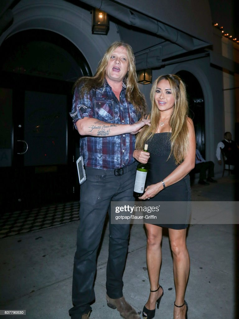 Sebastian Bach is seen on August 22, 2017 in Los Angeles, California.