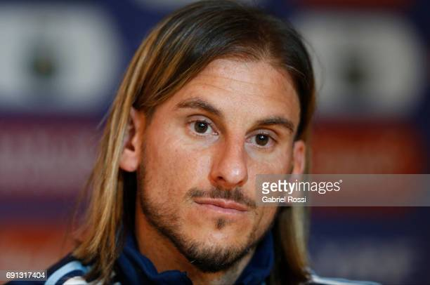 Sebastian Beccacece assistant coach during the presentation of Jorge Sampaoli as new Argentina coach at Argentine Football Association 'Julio...