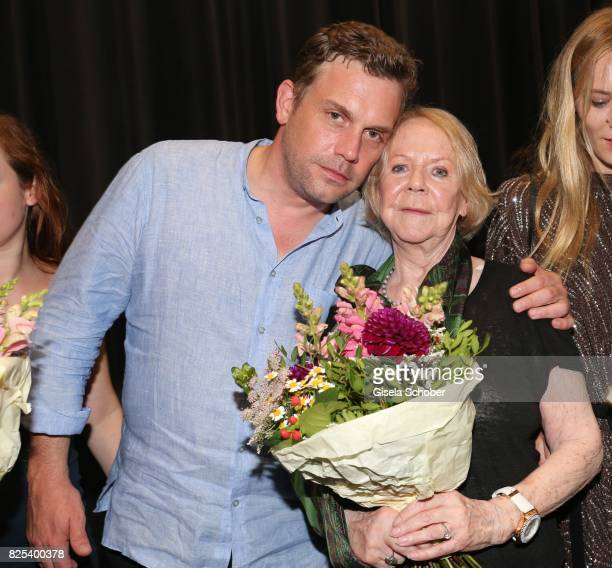 Sebastian Bezzel and Enzi Fuchs during the 'Griessnockerlaffaere' premiere at Mathaeser Filmpalast on August 1 2017 in Munich Germany