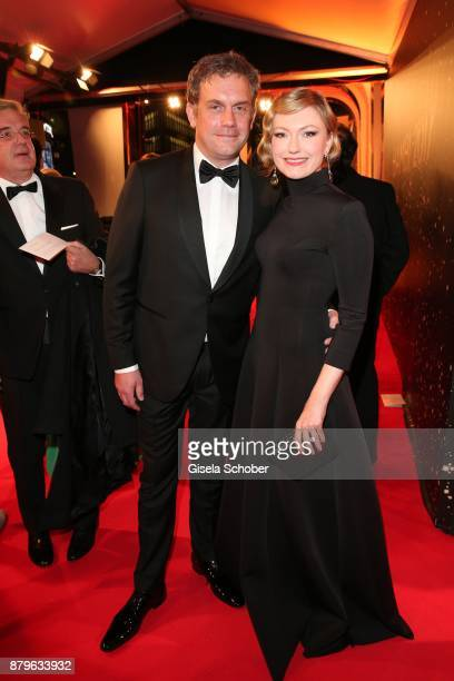 Sebastian Bezzel and his wife Johanna Christina Gehlen during the Bambi Awards 2017 at Stage Theater on November 16 2017 in Berlin Germany