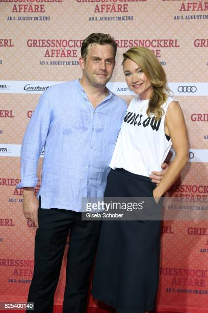 Sebastian Bezzel and Lisa Maria Potthoff during the 'Griessnockerlaffaere' premiere at Mathaeser Filmpalast on August 1 2017 in Munich Germany