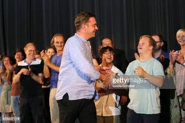 Sebastian Bezzel during the 'Griessnockerlaffaere' premiere at Mathaeser Filmpalast on August 1 2017 in Munich Germany