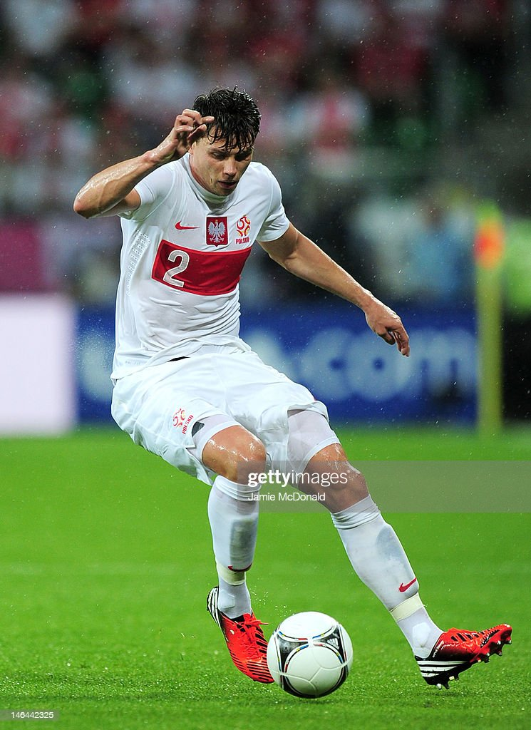 <a gi-track='captionPersonalityLinkClicked' href=/galleries/search?phrase=Sebastian+Boenisch&family=editorial&specificpeople=632472 ng-click='$event.stopPropagation()'>Sebastian Boenisch</a> of Poland in action during the UEFA EURO 2012 group A match between Czech Republic and Poland at The Municipal Stadium on June 16, 2012 in Wroclaw, Poland.