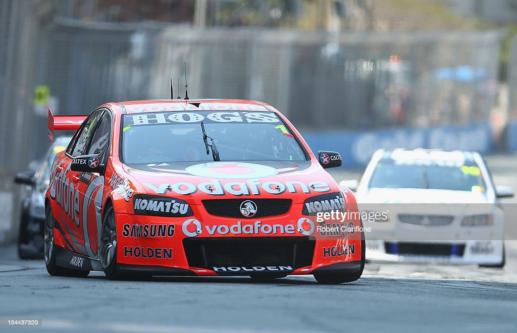 Sebastian Bourdais of France drives the #1 Team Vodafone Holden during race 22 for the Gold Coast 600, which is round 12 of the V8 Supercars Championship Series at the Gold Coast Street Circuit on October 20, 2012 on the Gold Coast, Australia.