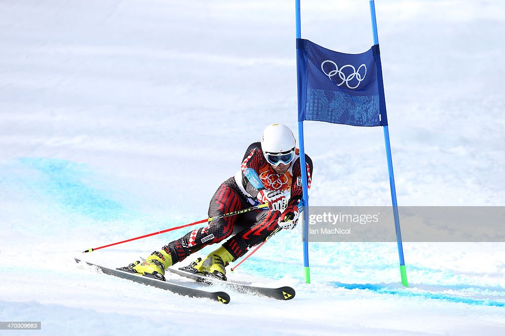 Sebastian Brigovic of Croatia competes during round two of the Men's Giant Slalom on Day 12 of the Sochi 2014 Winter Olympics at Rosa Khutor Alpine Centre on February 19, 2014 in Sochi, Russia.