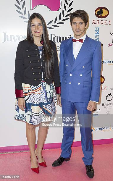 Sebastian Castella and Patricia Vasquez attend 'Juventud Taurina' awards 2016 on March 14 2016 in Madrid Spain