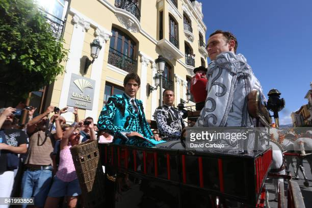 Sebastian Castella in the square before the bullfight at Goyesca 2017 on September 2 2017 in Ronda Spain