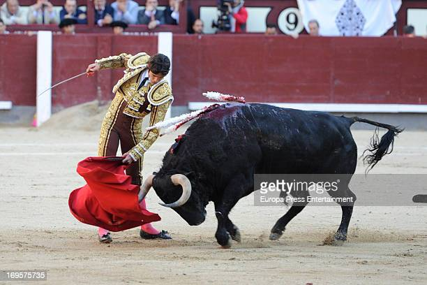 Sebastian Castella performs at Las Ventas Bullring on May 24 2013 in Madrid Spain