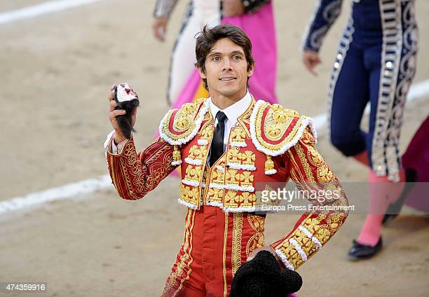 Sebastian Castella performs during San Isidro Fair at Las Ventas Bullring on May 21 2015 in Madrid Spain