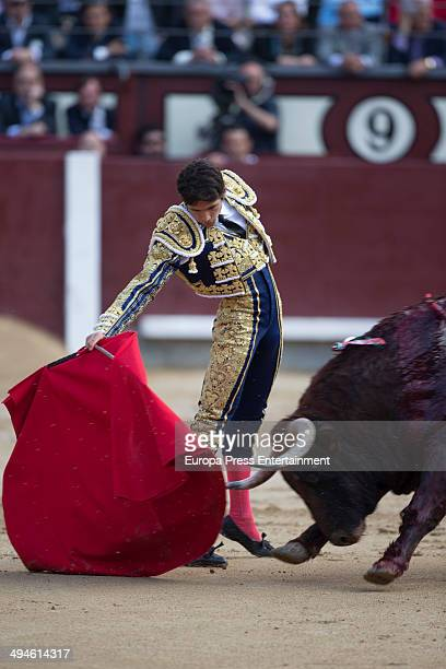 Sebastian Castella performs during San Isidro Fair at Las Ventas Bullring on May 29 2014 in Madrid Spain