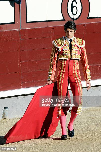 Sebastian Castella performs San Isidro Fair at Las Ventas Bullring on May 21 2015 in Madrid Spain