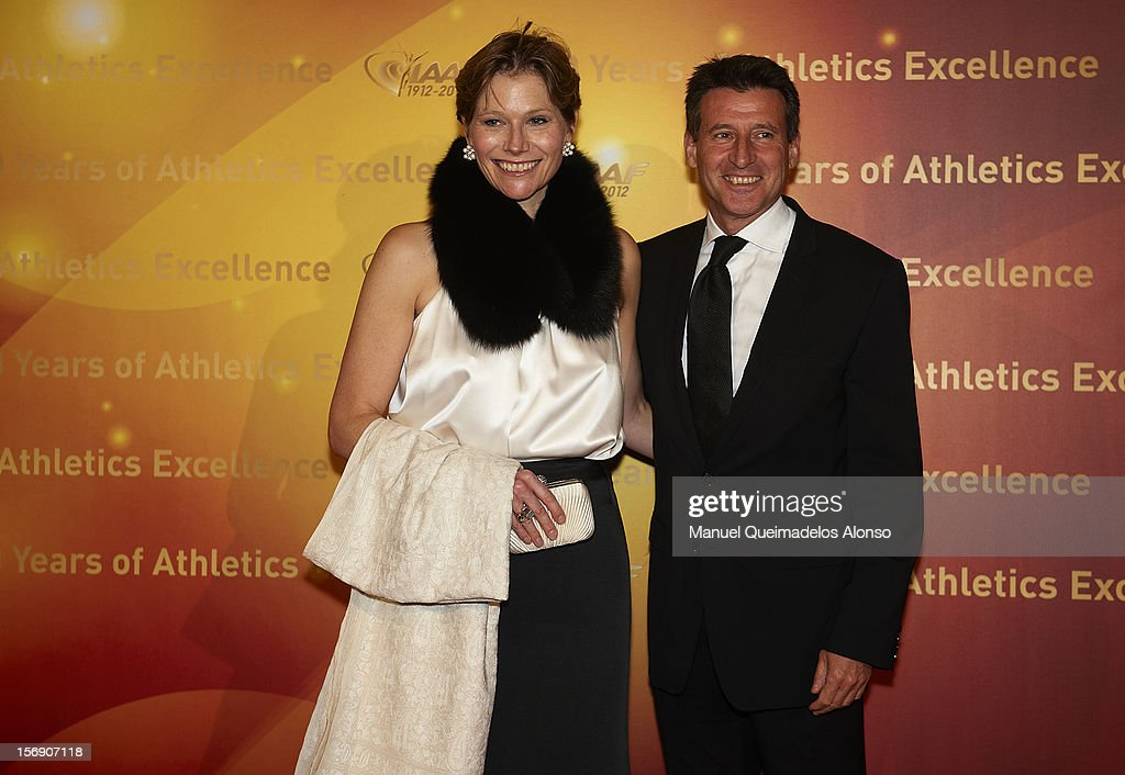 <a gi-track='captionPersonalityLinkClicked' href=/galleries/search?phrase=Sebastian+Coe&family=editorial&specificpeople=160624 ng-click='$event.stopPropagation()'>Sebastian Coe</a> of Great Britain and his wife Carole Annett attends the IAAF Centenary Gala at the Museo Nacional d'Art de Catalunya on November 24, 2012 in Barcelona, Spain.