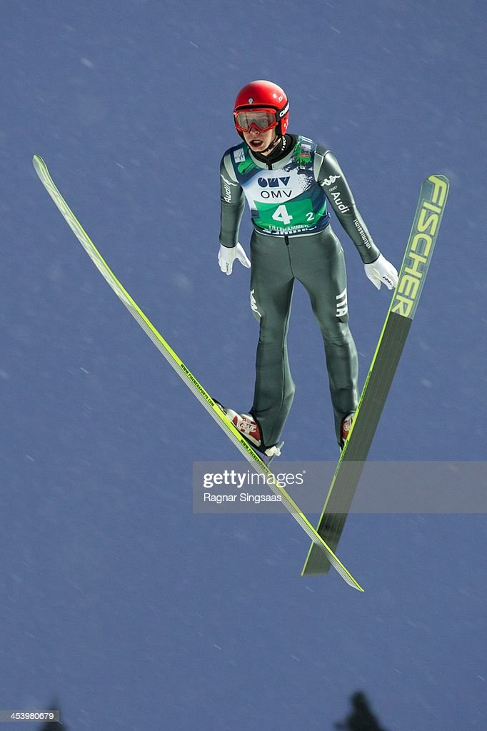 <a gi-track='captionPersonalityLinkClicked' href=/galleries/search?phrase=Sebastian+Colloredo&family=editorial&specificpeople=887338 ng-click='$event.stopPropagation()'>Sebastian Colloredo</a> of Italy competes during the FIS Ski Jumping Mixed Team World Cup at Lysgaardsbakkene on December 6, 2013 in Lillehammer, Norway.
