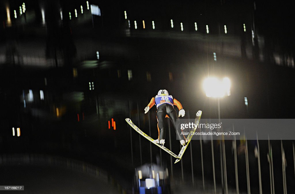 <a gi-track='captionPersonalityLinkClicked' href=/galleries/search?phrase=Sebastian+Colloredo&family=editorial&specificpeople=887338 ng-click='$event.stopPropagation()'>Sebastian Colloredo</a> of Italy during the qualifications of the FIS Ski Jumping World Cup Men's HS142 on November 29, 2012 in Kuusamo, Finland.