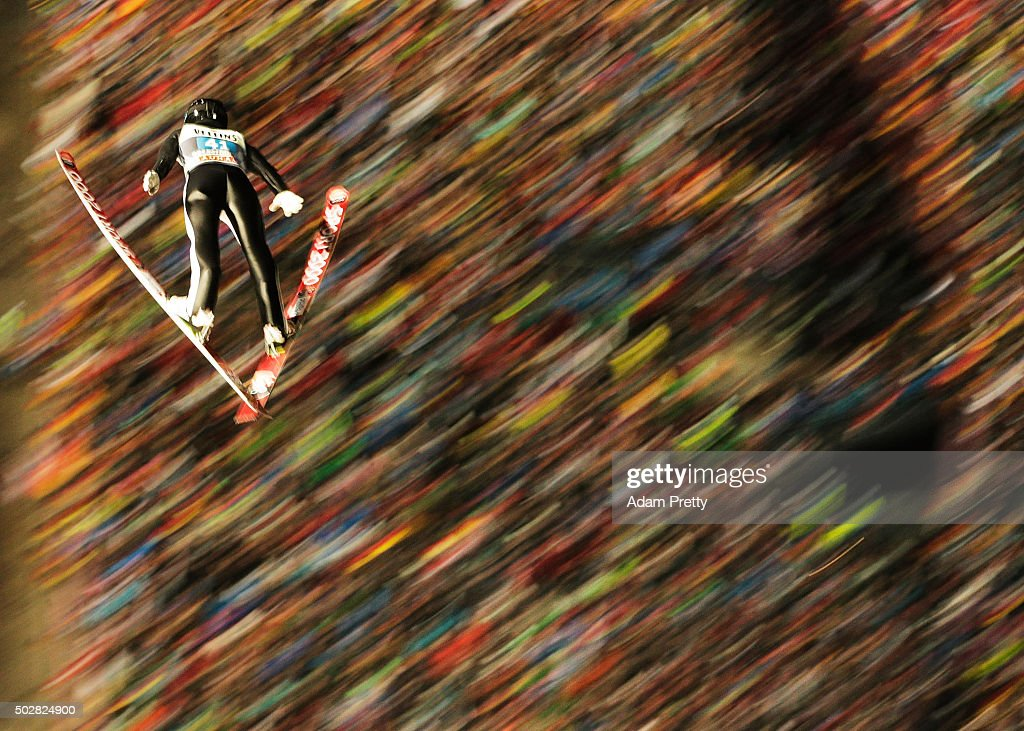 <a gi-track='captionPersonalityLinkClicked' href=/galleries/search?phrase=Sebastian+Colloredo&family=editorial&specificpeople=887338 ng-click='$event.stopPropagation()'>Sebastian Colloredo</a> of Italy soars through the air during his 1st round jump on Day 2 of the 64th Four Hills Tournament on December 29, 2015 in Oberstdorf, Germany.