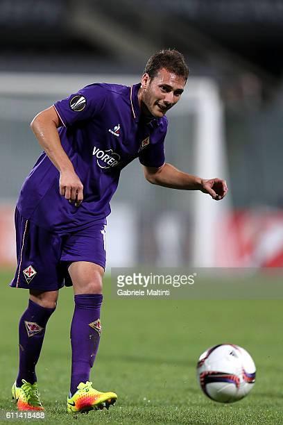 Sebastian Cristoforo of ACF Fiorentina in action during the UEFA Europa League match between ACF Fiorentina and Qarabag FK at Artemio Franchi on...