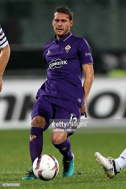 Sebastian Cristoforo of ACF Fiorentina in action during the UEFA Europa League match between ACF Fiorentina and PAOK FC at Stadio Artemio Franchi on...