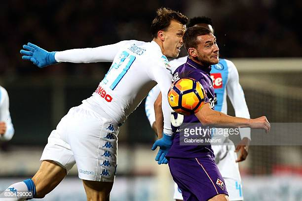 Sebastian Cristoforo of ACF Fiorentina reacts during the Serie A match between ACF Fiorentina and SSC Napoli at Stadio Artemio Franchi on December 22...