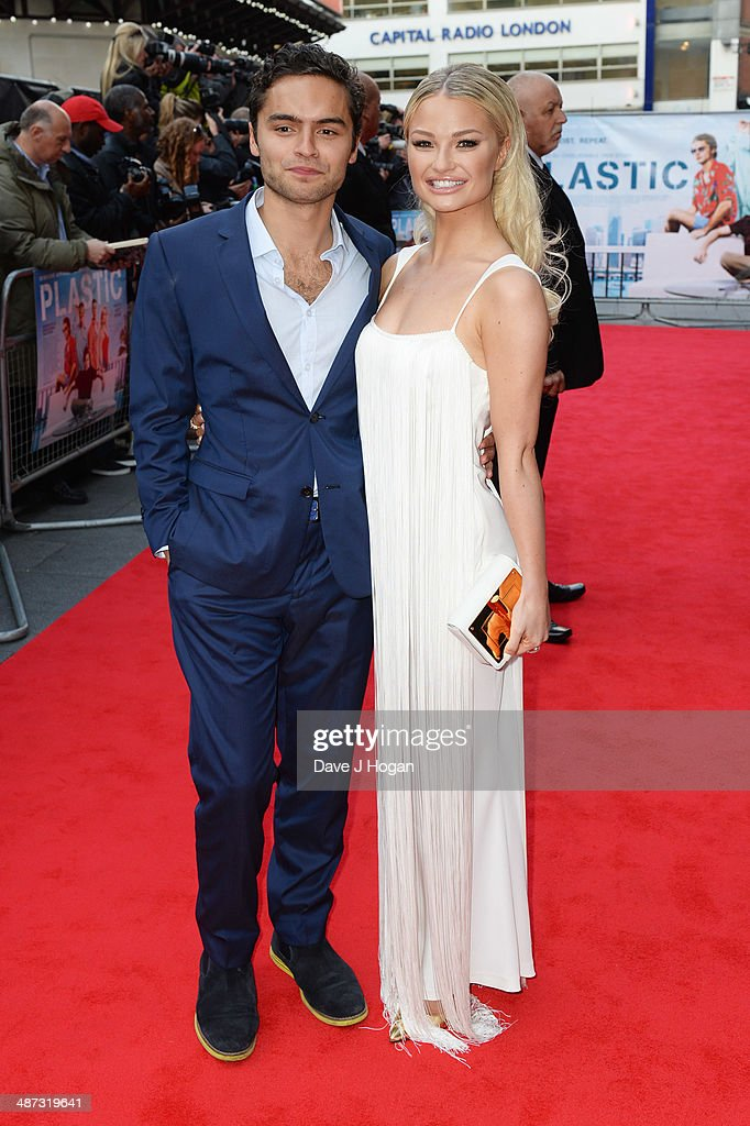 Sebastian De Souza and <a gi-track='captionPersonalityLinkClicked' href=/galleries/search?phrase=Emma+Rigby&family=editorial&specificpeople=4304830 ng-click='$event.stopPropagation()'>Emma Rigby</a> attend the UK premiere of 'Plastic' on April 29, 2014 in London, England.