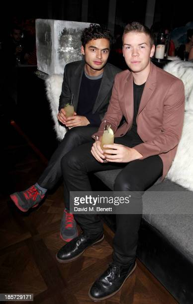 Sebastian de Souza and Will Poulter attend the launch of the W Republic of Verbier takeover at W London Leicester Square on October 24 2013 in London...