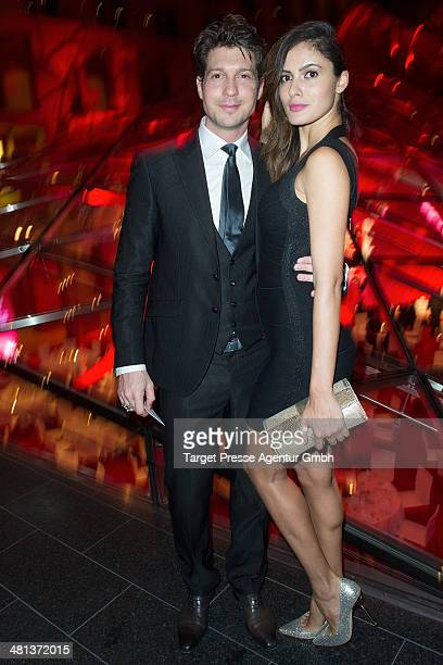 Sebastian Deyle and Tatiana Silva attend the Gala Night of the FIFA World Cup trophy Tour on March 29 2014 in Berlin Germany