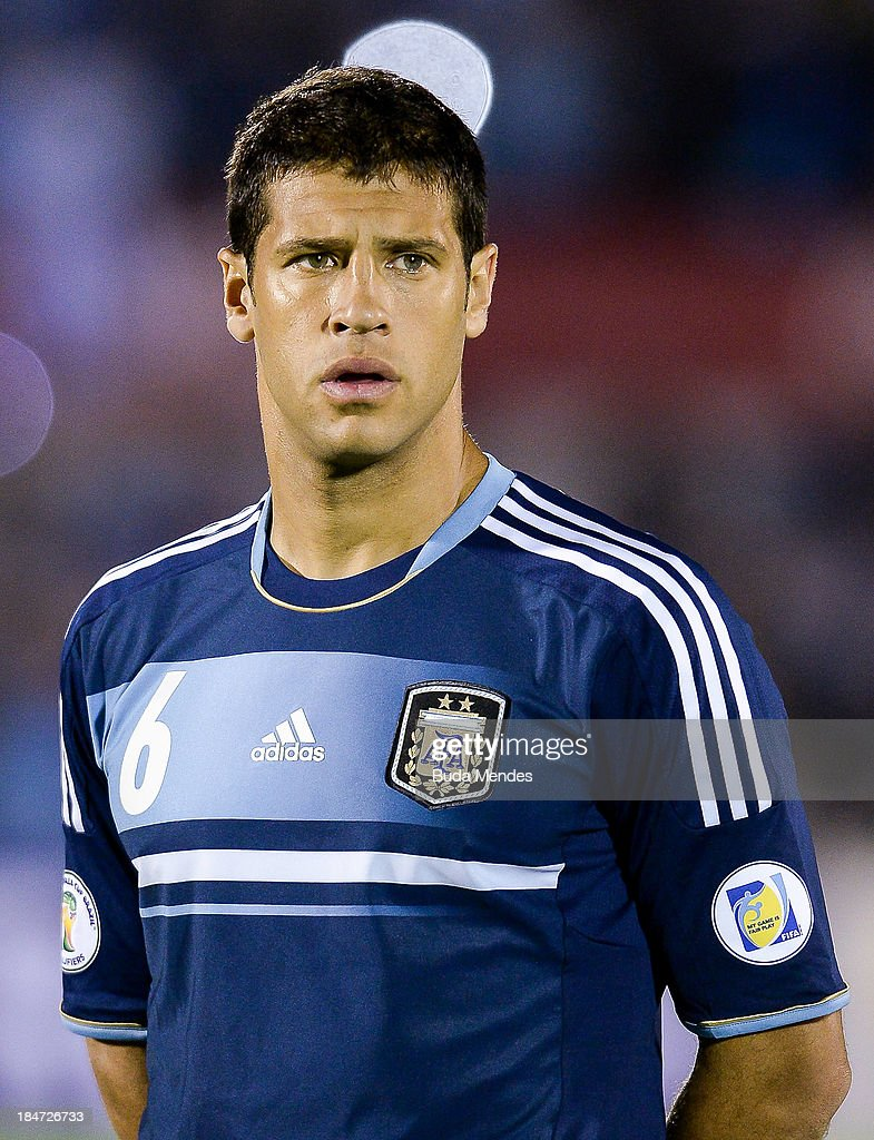 <a gi-track='captionPersonalityLinkClicked' href=/galleries/search?phrase=Sebastian+Dominguez&family=editorial&specificpeople=2474032 ng-click='$event.stopPropagation()'>Sebastian Dominguez</a> of Argentina looks on during a match between Uruguay and Argentina as part of the 18th round of the South American Qualifiers for the FIFA World Cup Brazil 2014 at Centenario Stadium Stadium on October 15, 2013 in Montevideo, Uruguay.
