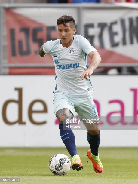 Sebastian Driussi of FC Zenit during the UEFA Europa League fourth round qualifying first leg match between FC Utrecht and FK Zenit St Petersburg at...
