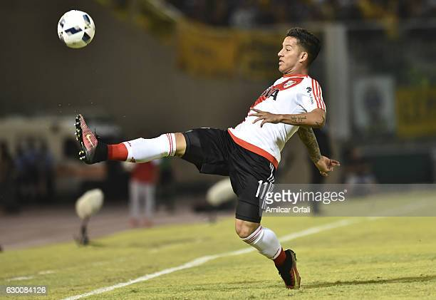 Sebastian Driussi of River Plate controls the ball during a final match between River Plate and Rosario Central as part of Copa Argentina 2016 at...