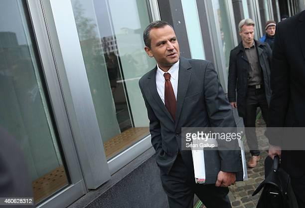 Sebastian Edathy German Social Democrat and former member of the Bundestag arrives to testify at the Bundestag commission investigating allegations...