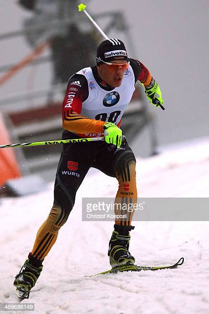 Sebastian Eisenlauer of Germany competes in the Men's 15km qualification free sprint at the Viessmann FIS Cross Country World Cup event at DKB Ski...