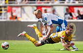 Sebastian Eriksson of IFK Goteborg and Marcus Rohden of IF Elfsborg battles for the ball during the Allsvenskan match between IF Elfsborg and IFK...