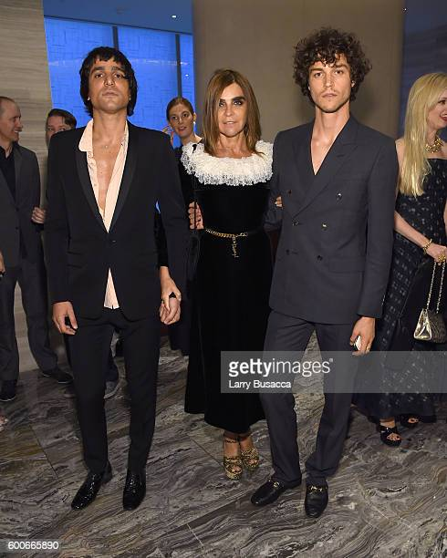 Sebastian Faena Carine Roitfeld and Miles McMillan attend The Daily Front Row's 4th Annual Fashion Media Awards at Park Hyatt New York on September 8...