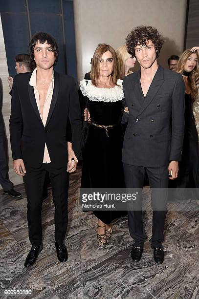 Sebastian Faena Carine Roitfeld and Miles McMillan attend the The Daily Front Row's 4th Annual Fashion Media Awards at Park Hyatt New York on...
