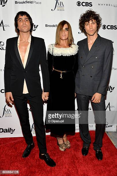 Sebastian Faena Carine Roitfeld and Miles McMillan attends the The Daily Front Row's 4th Annual Fashion Media Awards at Park Hyatt New York on...