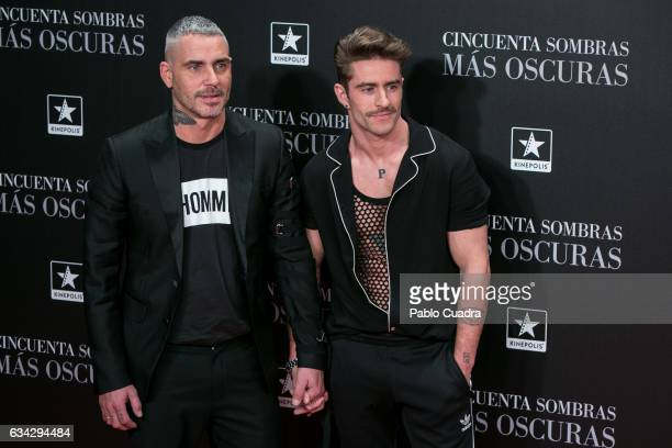 Sebastian Ferraro and Pelayo Diaz attend the 'Fifty Shades Darker' premiere at Kinepolis Cinema on February 8 2017 in Madrid Spain