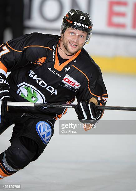 Sebastian Furchner of Grizzly Adams Wolfsburg during the action shot on august 31 2014 in Krefeld Germany
