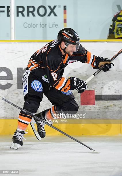 Sebastian Furchner of Grizzly Adams Wolfsburg in action during the action shot on august 31 2014 in Krefeld Germany
