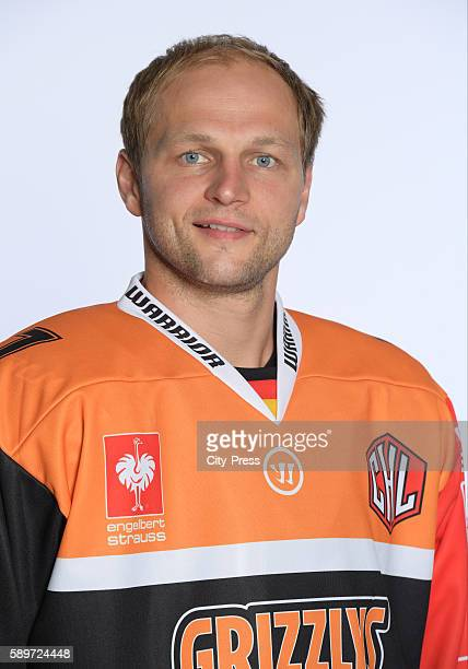 Sebastian Furchner of the Grizzlys Wolfsburg during the portrait shot on august 15 2016 in Wolfsburg Germany