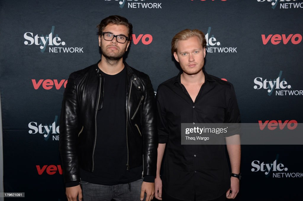Sebastian Furrer and Alexander Bjorklund attend the VEVO and Styled To Rock Celebration Hosted by Actress, Model and 'Styled to Rock' Mentor Erin Wasson with Performances by Bridget Kelly & Cazzette on September 5, 2013 in New York City.