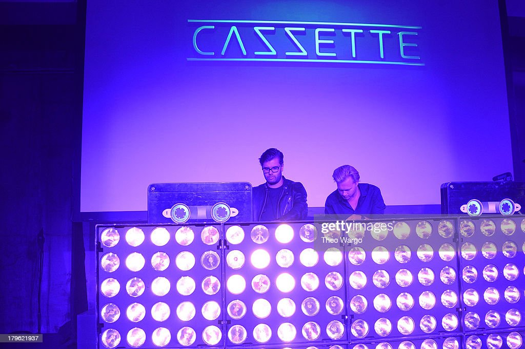 Sebastian Furrer and Alexander Bjorklund of Cazzette perform at the VEVO And Styled To Rock Celebration Hosted by 'Styled to Rock' Mentor Erin Wasson...