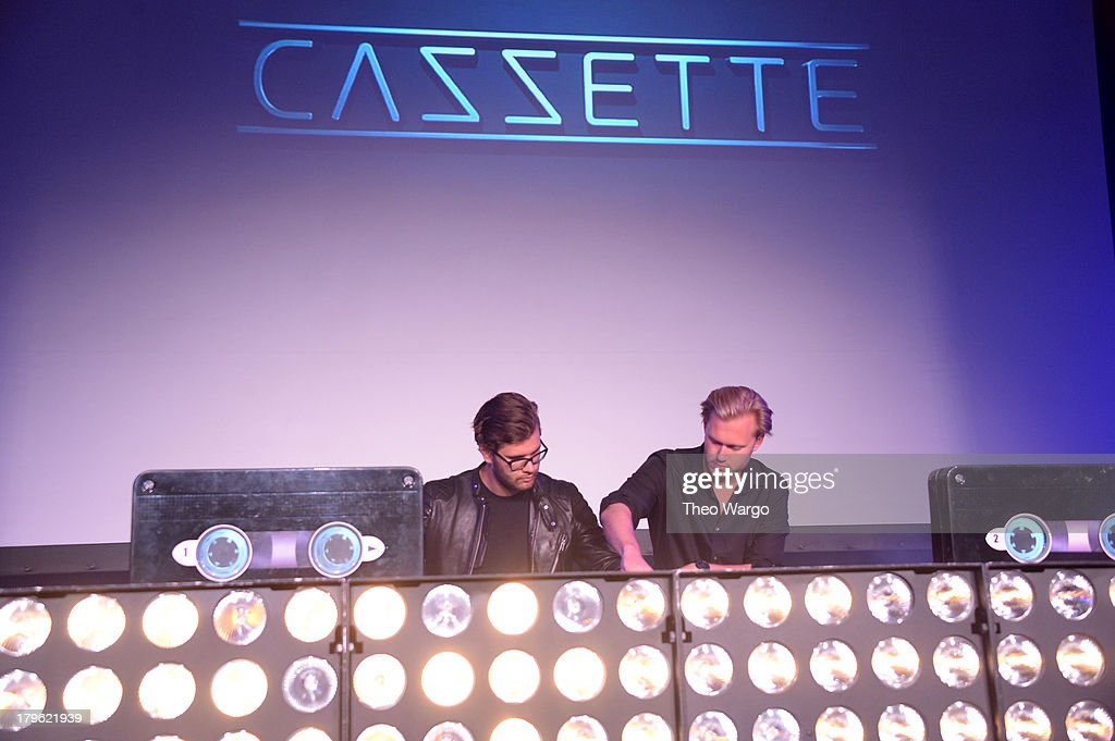 Sebastian Furrer and Alexander Bjorklund of Cazzette perform at the VEVO And Styled To Rock Celebration Hosted by 'Styled to Rock' Mentor Erin Wasson with Performances by Bridget Kelly & Cazzette on September 5, 2013 in New York City.