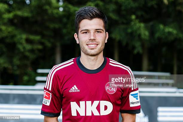 Sebastian Gaertner poses during the FC Nuernberg team presentation at Sportpark Valznerweiher on July 9 2013 in Nuremberg Germany